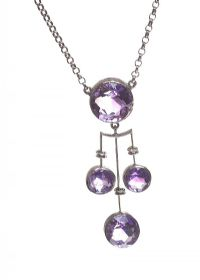 SILVER NECKLACE SET WITH AMETHYST at Ross's Jewellery Auctions