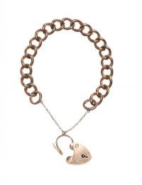 9CT ROSE GOLD CURB-LINK BRACELET WITH HEART-SHAPED PADLOCK CLASP at Ross's Jewellery Auctions
