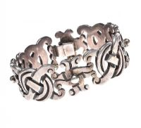 HEAVY SILVER BRACELET OF PIERCED CELTIC DESIGN at Ross's Jewellery Auctions