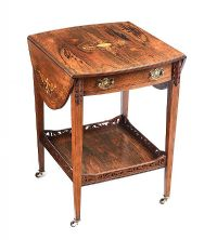 EDWARDIAN ROSEWOOD DROP LEAF TABLE at Ross's Auctions