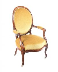 VICTORIAN ROSEWOOD ARMCHAIR at Ross's Auctions