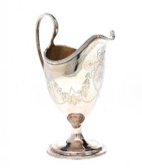 IRISH SILVER HELMET SHAPED JUG at Ross's Auctions
