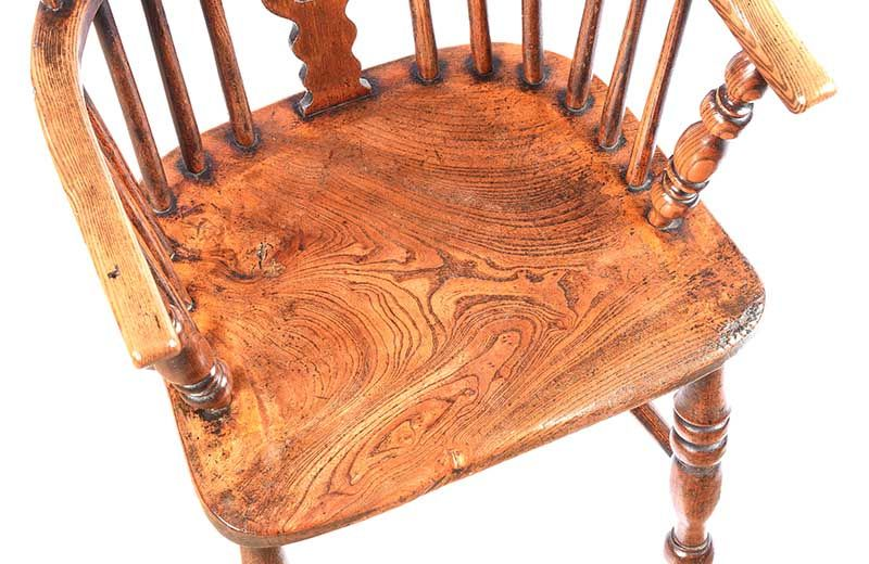ANTIQUE ELM WINDSOR CHAIR at Ross's Online Art Auctions