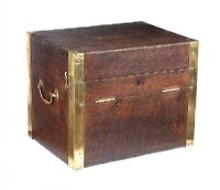 BRASS BOUND DEED BOX at Ross's Auctions