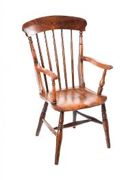 ANTIQUE ELM KITCHEN CHAIR at Ross's Auctions