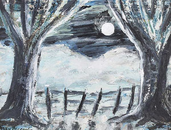 WINTER MOONLIGHT by Max Maccabe HRUA FRSA at Ross's Online Art Auctions