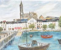 COBH, COUNTY CORK by Nancy Fitzpatrick at Ross's Auctions