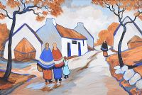 AUTUMN VILLAGE by J.P. Rooney at Ross's Auctions
