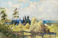 HAYSTACKS by Eva Henrietta Hamilton at Ross's Auctions