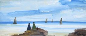 WATCHING THE SAIL BOATS by Markey Robinson at Ross's Auctions