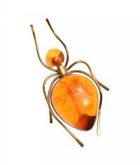 AMBER-SET BUG BROOCH at Ross's Jewellery Auctions