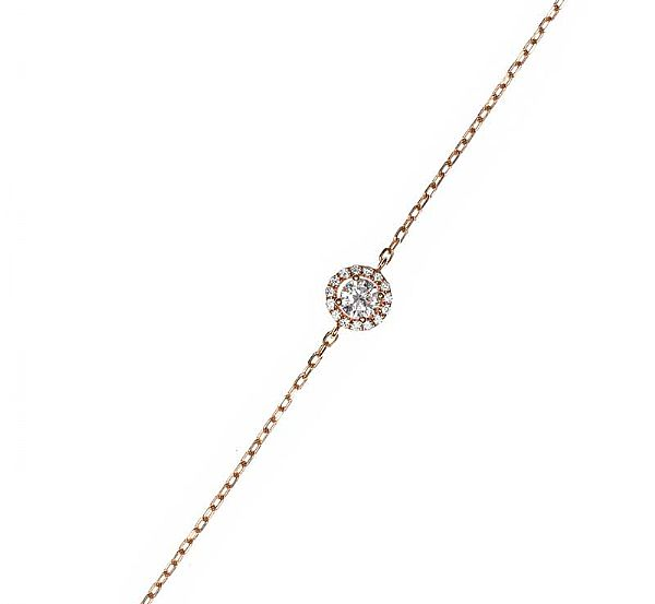 18CT ROSE GOLD DIAMOND BRACELET at Ross's Online Art Auctions