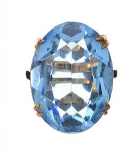 VINTAGE 9CT GOLD TOPAZ RING at Ross's Auctions