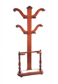 VICTORIAN MAHOGANY HALL STAND at Ross's Auctions