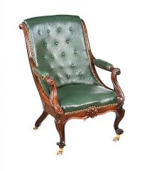 WILLIAM IV ROSEWOOD LIBRARY CHAIR at Ross's Auctions