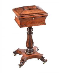 WILLIAM IV ROSEWOOD TEA POY at Ross's Online Art Auctions