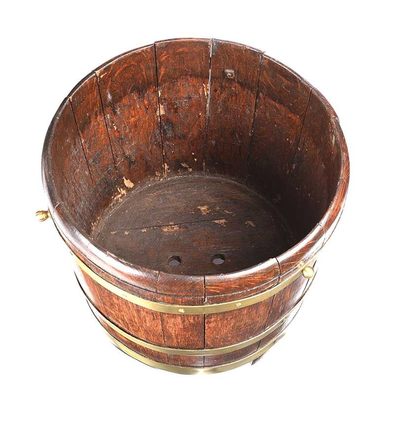 BRASS BOUND LOG BUCKET at Ross's Online Art Auctions