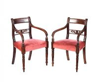 PAIR OF REGENCY MAHOGANY ARMCHAIRS at Ross's Auctions