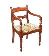 REGENCY MAHOGANY ARMCHAIR at Ross's Auctions