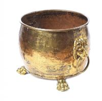VICTORIAN BRASS LOG BUCKET at Ross's Auctions