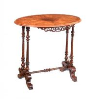VICTORIAN WALNUT OVAL TABLE at Ross's Auctions