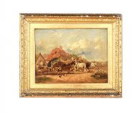 OIL ON CANVAS FARM SCENE at Ross's Auctions