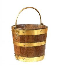 BRASS BOUND LOG BUCKET at Ross's Auctions