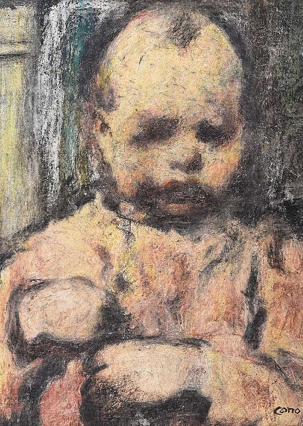THE SULKY CHILD by William Conor RHA RUA at Ross's Online Art Auctions