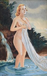 FEMALE BATHING by G. Simontre at Ross's Auctions