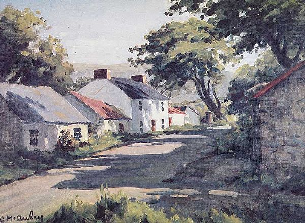 RED BAY VILLAGE by Charles McAuley at Ross's Online Art Auctions