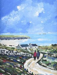 RETURNING HOME TO THE BLASKETS IN COUNTY KERRY by Eileen Gallagher at Ross's Auctions