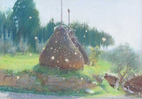 HAYSTACKS by Anne Shingleton at Ross's Online Art Auctions