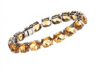 STERLING SILVER CITRINE BRACELET at Ross's Jewellery Auctions