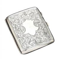 STERLING SILVER CIGARETTE CASE at Ross's Jewellery Auctions