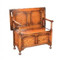 OAK MONK'S BENCH at Ross's Auctions