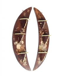 PAIR OF LACQUERED WALL BRACKETS at Ross's Auctions