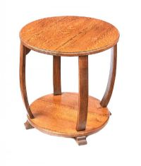 ART DECO OAK LAMP TABLE at Ross's Auctions