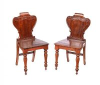 PAIR OF VICTORIAN MAHOGANY HALL CHAIRS at Ross's Auctions