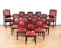 SET OF SIXTEEN VICTORIAN DINING ROOM CHAIRS at Ross's Auctions