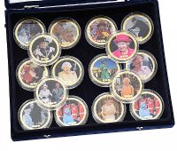 SET OF SIXTEEN COMMEMORATIVE COINS at Ross's Auctions