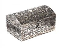 SILVER-TONE TRINKET BOX at Ross's Jewellery Auctions