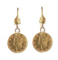 22CT GOLD COIN EARRINGS at Ross's Jewellery Auctions