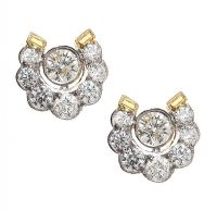 18CT GOLD DIAMOND EARRINGS at Ross's Jewellery Auctions