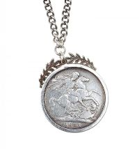 STERLING SILVER CROWN NECKLACE at Ross's Jewellery Auctions