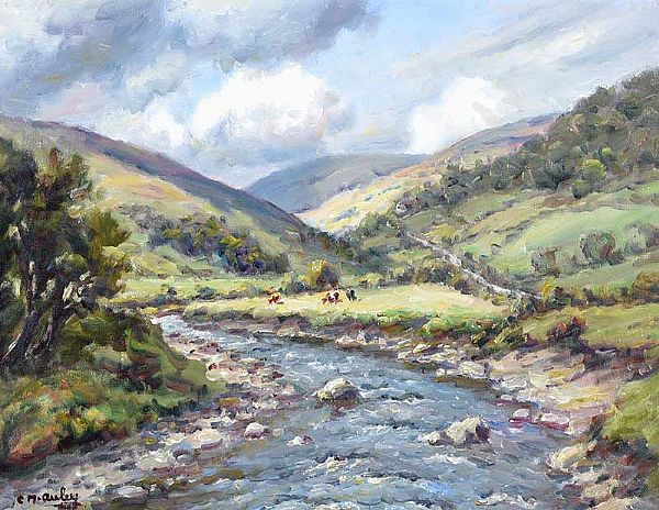 SUMMER, GLENDUN, COUNTY ANTRIM by Charles McAuley at Ross's Online Art Auctions