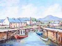 ANNALONG HARBOUR, COUNTY DOWN by Nigel Allison at Ross's Auctions