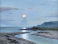 MOONLIGHT OVER GARRON, COUNTY ANTRIM by Charles McAuley at Ross's Auctions
