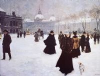 WINTER IN THE SQUARE by Austrian School at Ross's Auctions