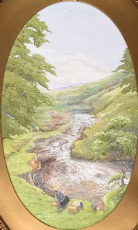 TROUT FISHING by English School at Ross's Auctions