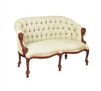 UPHOLSTERED TWO SEATER SETTEE at Ross's Auctions